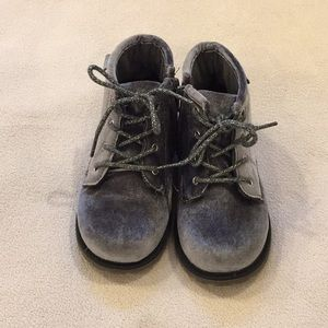 GUC OshKosh Velour booties, size 12